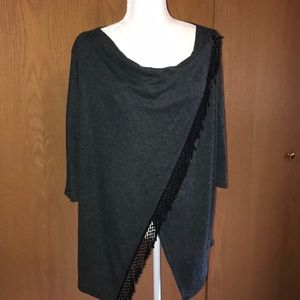Women's Maurices sz1 Charcoal Gray Top